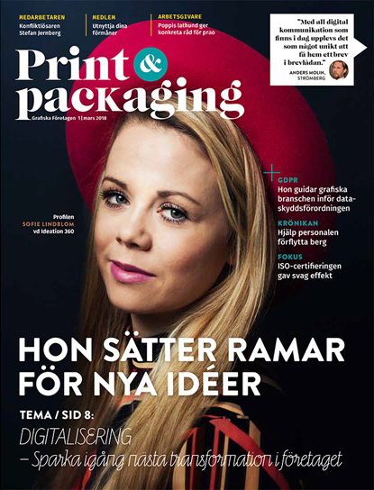 Ordsamt skriver i Print & Packaging